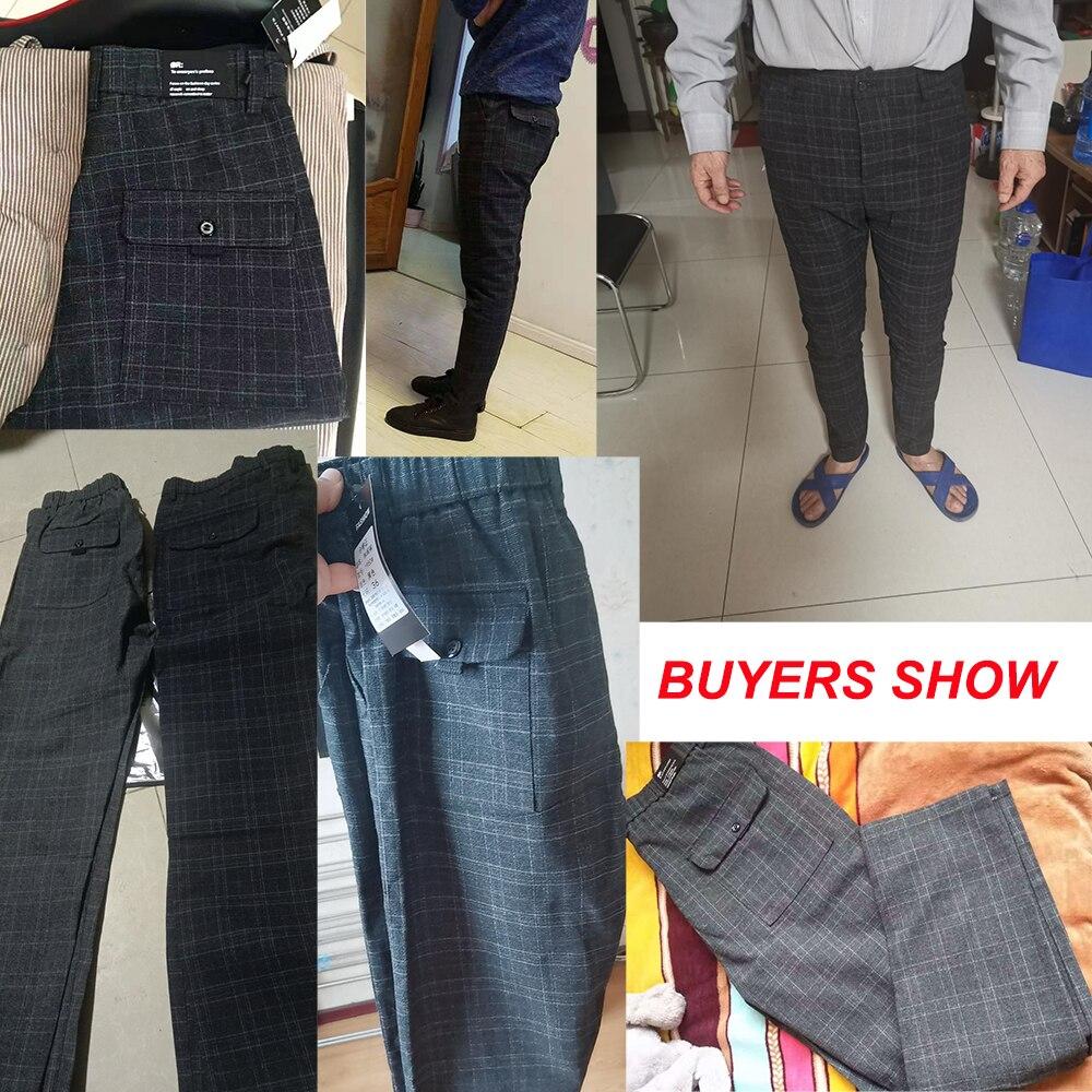 Image 5 - 2020 New Design Upscale Men Casual Pants Cotton and linen Slim Male Pant Straight Trousers Business Pants Men Plus Size 38Casual Pants   -