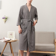 Women/Men Kimono Bathrobe Sleepwear Spa Robe Nightwear Unisex Nightgown GDD99