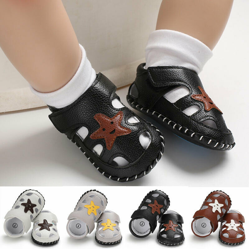 CANIS Casual Toddler Baby Shoes Slippers Girl Boy Summer Sandals Anti Slip Unisex Slippers Hollow Out PU Leather Shoes Sneaker
