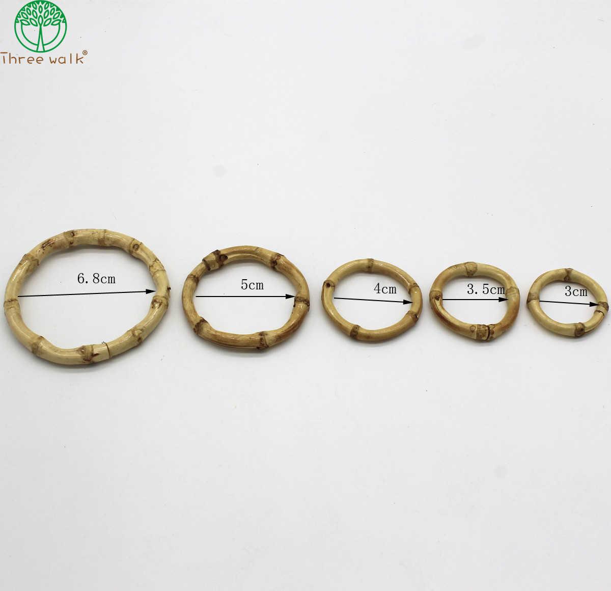3pcs bambou en bois anneau goujon boucles d/'oreilles présentoir bijoux