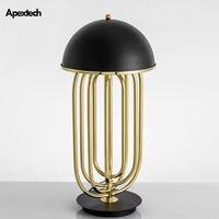 Classic Luxury Table Lamp Iron Art Living Room Desk Decor Lights Hotel Bedroom Bedside Lamp Restaurant Table Lighting Fixtures