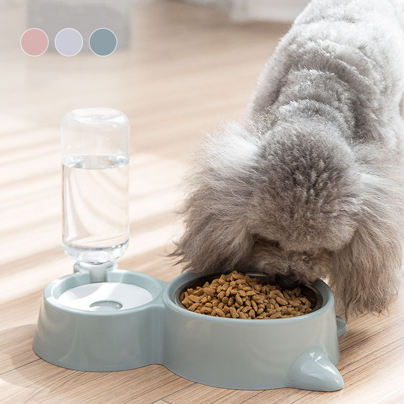 Hipidog Free Shipping Water Food Bottle Double Bowl For Dog Drinking Bowl Dispenser Feeder Drophipping