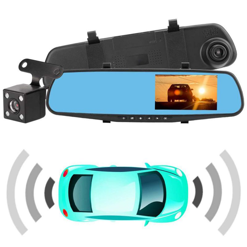 Car Dvr Camera Rearview-Mirror Driving Video-Recorder Dash-Cam Dual-Lens Full-Hd Car-Reverse-Image