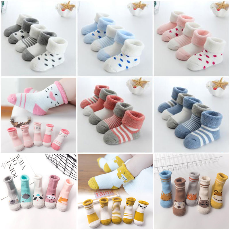 2019 New Warm Baby Toddler Socks Cartoon Cotton Autumn And Winter Baby Foot Socks
