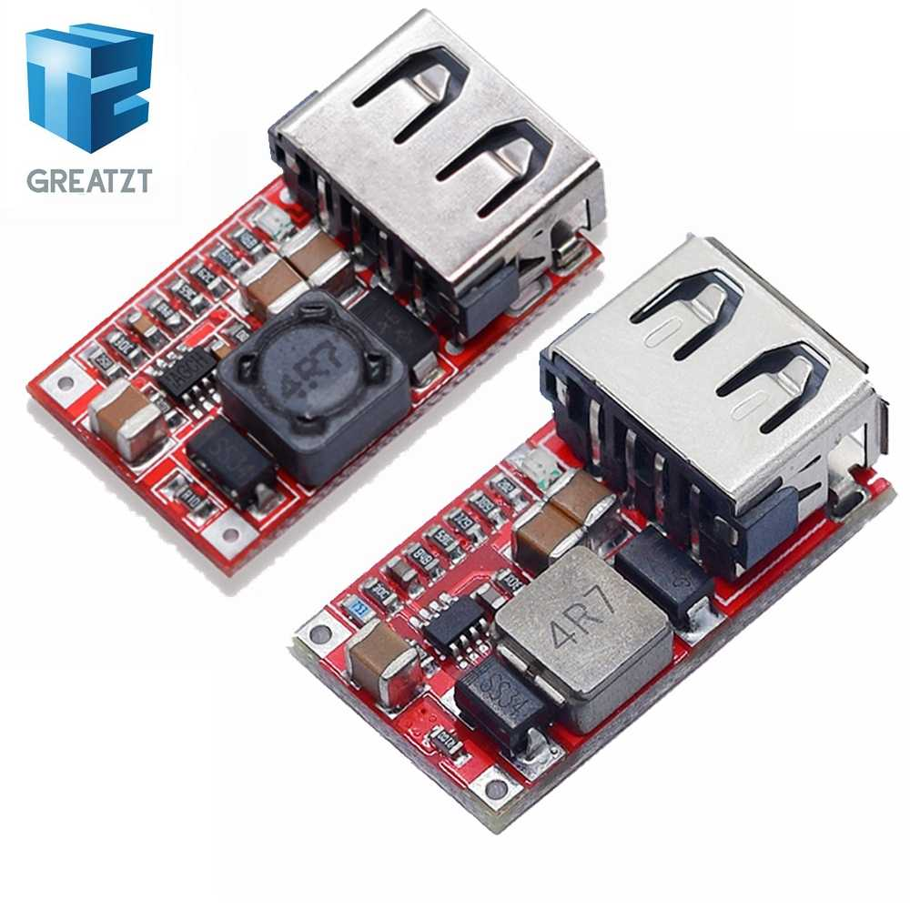 GREATZT Fine 6-24V 12V/24V to 5V 3A CAR USB Charger Module DC Buck step down Converter 12v 5v power supply module good