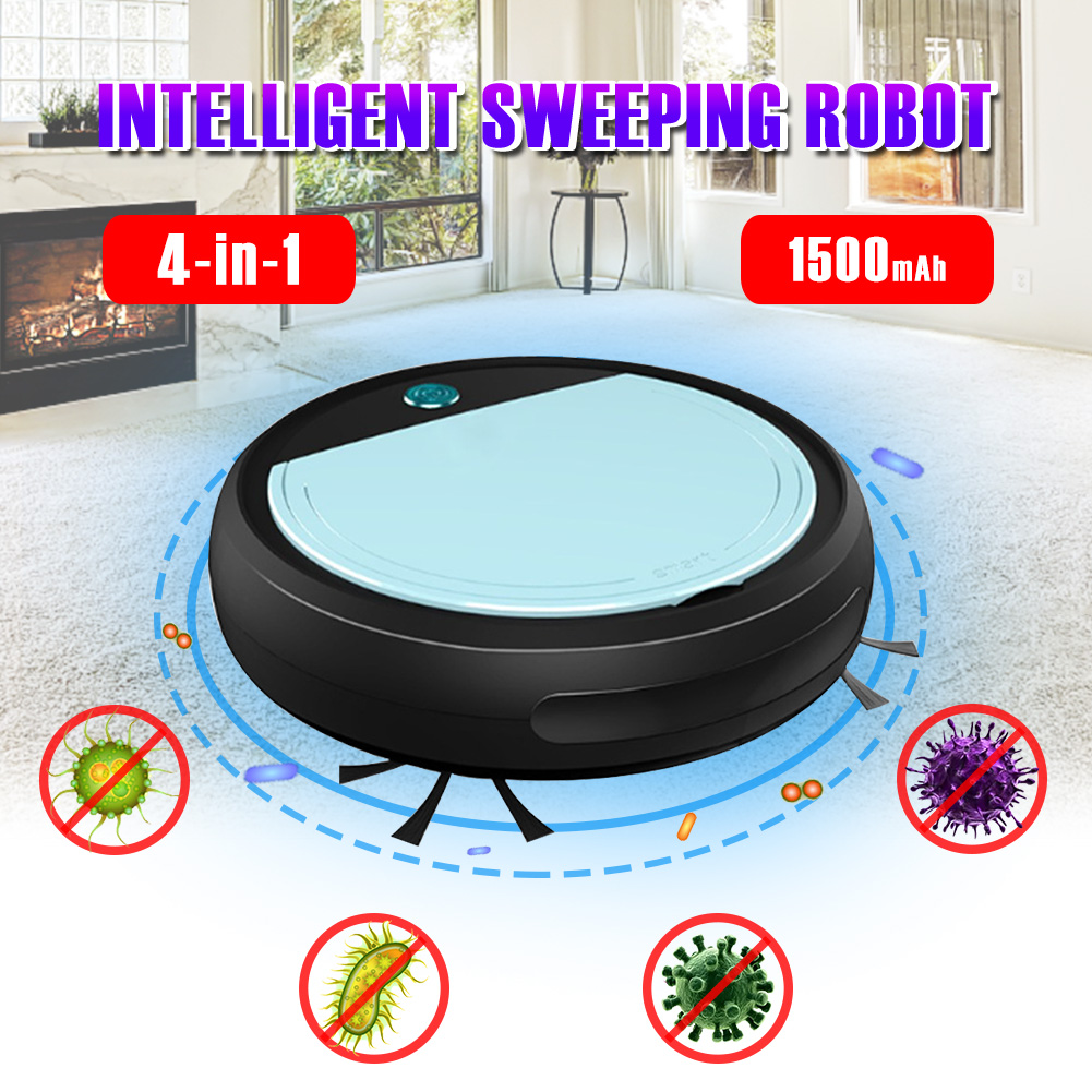 UV Sterilizer Smart Robot Automatic Multifunctional Robot Vacuum Cleaner Dirt Dust Hair Floor Sweeper Cleaning Robot Machine