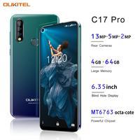 """19 OUKITEL C17 Pro 6.35"""" 19:9 Android 9.0 Mobile Phone MT6763 Octa Core 4G RAM 64G ROM Fingerprint 3900mAh Triple Camera Sma (3)"""