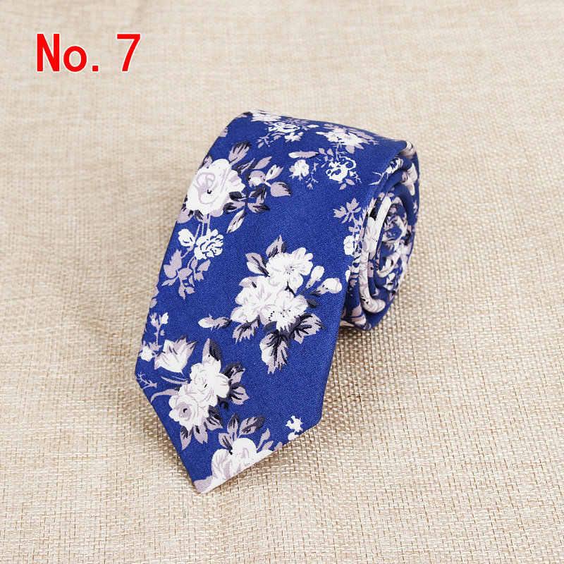 ربطات عنق رجالية كلاسيكية مصنوعة يدوياً رابطة عنق قطنية للرجال 6 سنتيمتر ربطات عنق ضيقة زهور هدية حفلة زفاف عادية Gravatas Paisley Tie
