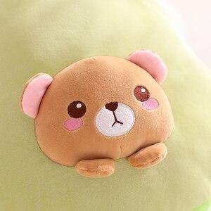 Image 5 - איכות גבוהה 3 ב 1 אבוקדו בפלאש צעצוע ממולא חום דוב צעצוע ב אבוקדו כרית עם פליז שמיכת צד בית ספר תנומת כרית