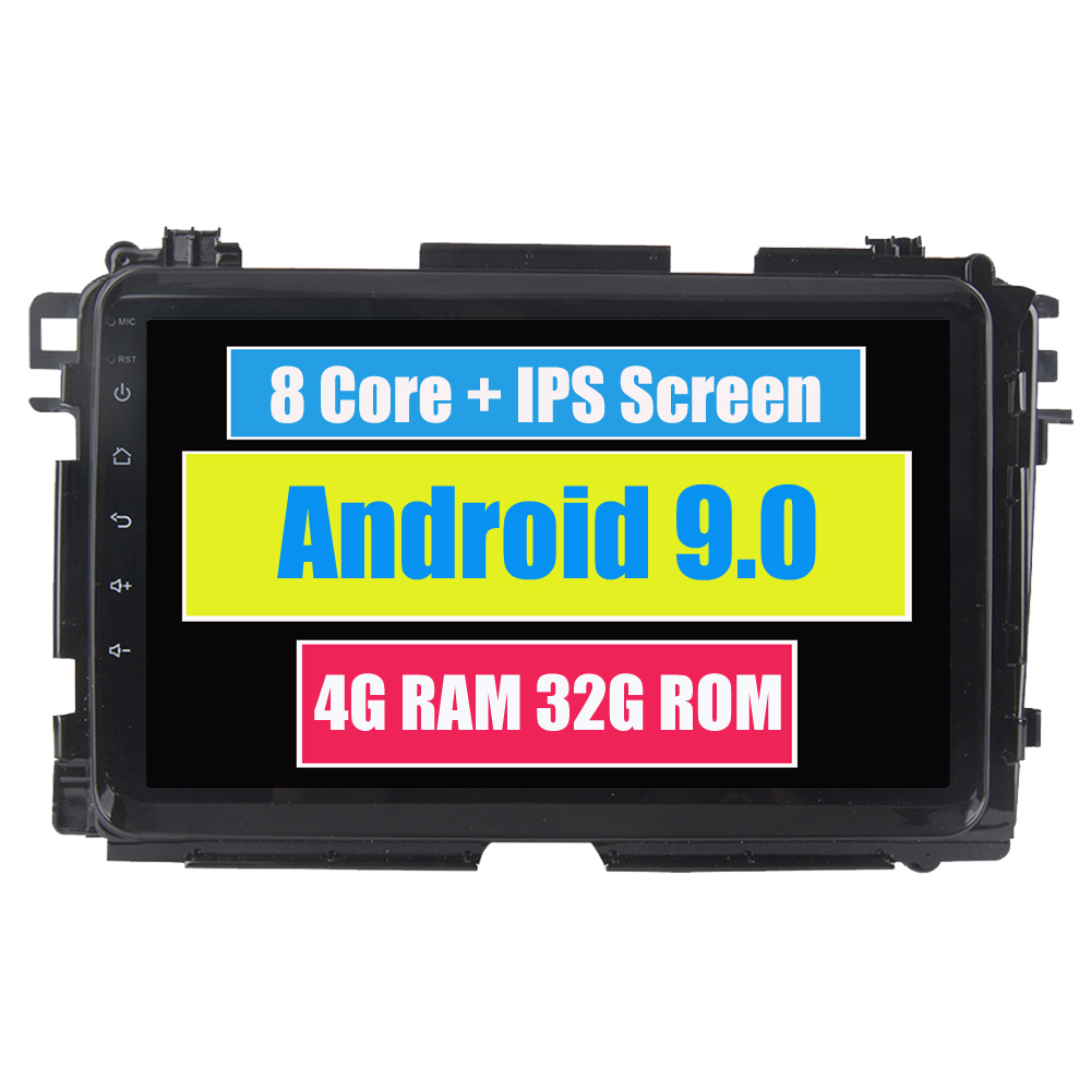 RoverOne Android 9.0 Octa Core Car Radio <font><b>GPS</b></font> <font><b>For</b></font> <font><b>Honda</b></font> Vezel HR-V <font><b>HRV</b></font> 2014+ 8'' Touchscreen Multimedia Player Stereo Head Unit image