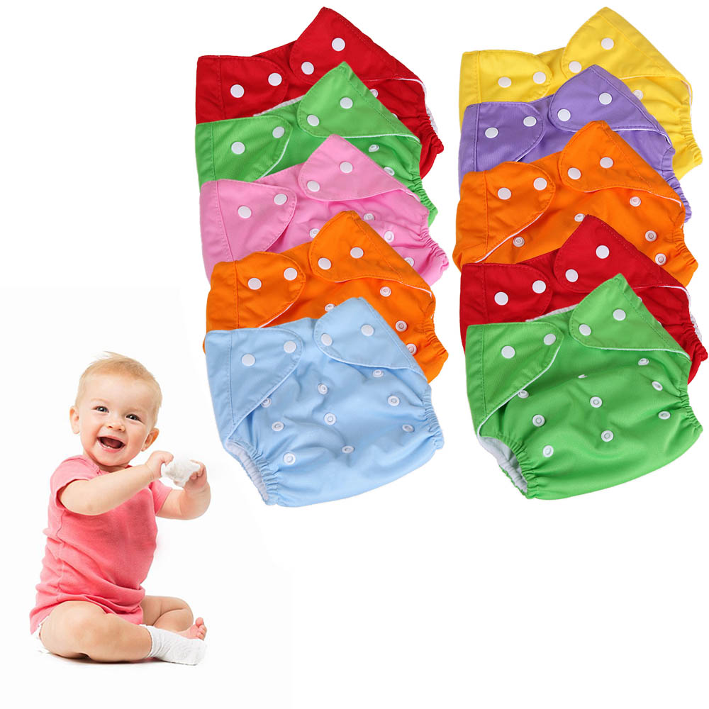 10PCS Adjustable Reusable Washable Waterproof Breathable Baby Cloth Diapers For Toddler Infant Newborn Baby Boys Gilrs