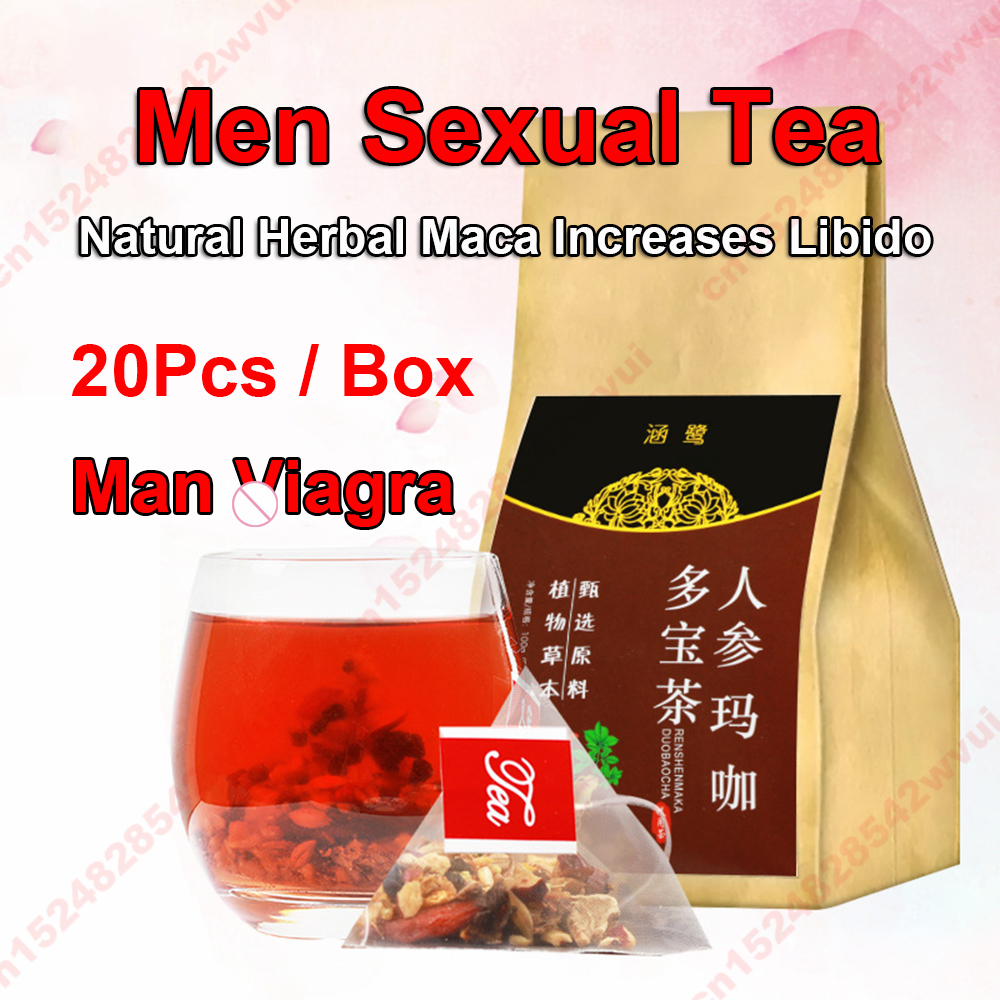 Man Viagra Maca Tea Extreme Sleep Quality Power for Man And Women Improve Immunity GPGP Increases Erectic Tea Bags Sex Products