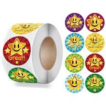 50-500 pçs crianças recompensa adesivos escolar criativo suprimentos recompensa estrela bonito adesivo 2.5cm círculo crianças brinquedo adesivos