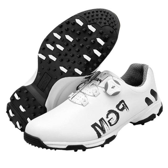 を PGM ゴルフシューズ男性アンチスキッドスパイク防水スニーカー通気性のスポーツトレーナー靴ゴルフ chaussure zapato ゴルフスニーカー
