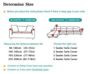 Image 3 - ดอกไม้ Slipcover โซฟาแน่นรวมทุกอย่างห่อเดี่ยว/คู่/สาม/สี่ที่นั่งความยืดหยุ่นโซฟา 1 PC