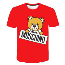 2021 Summer New Boys and Girls Love Anime, Fresh, Cute And Simple Bear 3d Printing Short-Sleeved T-Shirt