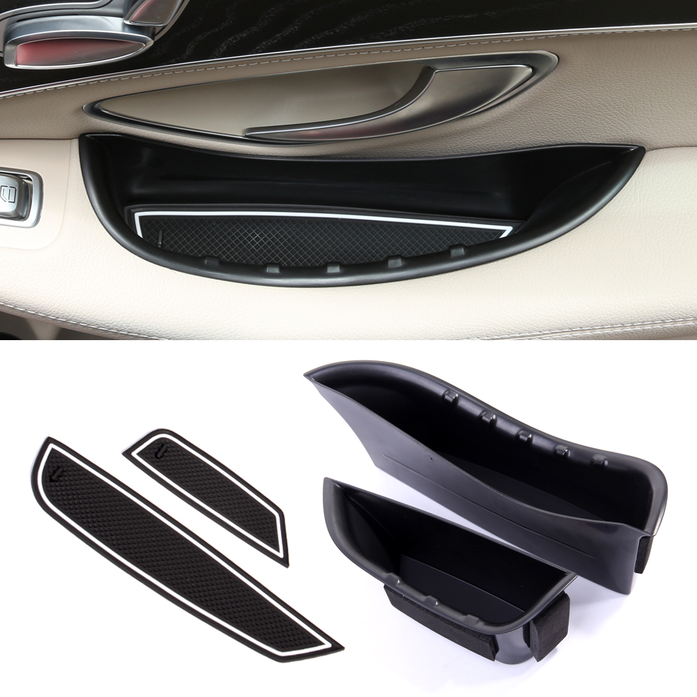 for Benz C-Class W205 2014-2017 New Front Door Armrest Storage Box Holder 2pcs