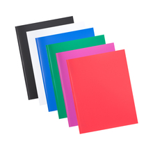 Poly File Comix Portfolio Folder Fastners Letter-Size 2-Pockets with 6pcs/Lot 3-Prong