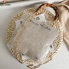 DORANMI torebka z plecionej słomy damskie torby z uchwytami 2021 przezroczyste torby kompozytowe kobieca torba na ramię Messenger Bolsos BG648