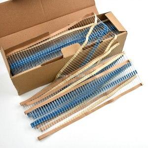 50 pçs/lote 1/2 w resistor de filme de metal +/- 1% 10 resistores ohm 0.5 w 10 r ohm watt cor anel resistência filme carbono