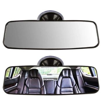 Uniwersalne wnętrze samochodu lusterko wsteczne z przyssawką uniwersalne wnętrze lusterko wsteczne zamiennik dla pojazdu ciężarówka SUV tanie i dobre opinie CN (pochodzenie) Glass Lusterka wewnętrzne 130g 9 2cm Car Rear View Mirror 21cm Car Accessories Car Mirror Replacement