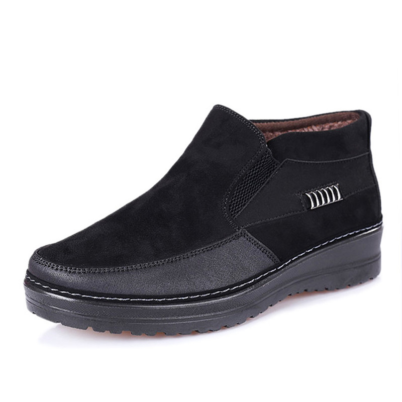 Men's Boots Fashion Warm Snow Boots Men Winter Casual Walking Shoes  High Quality Male Comforatble Fur Ankle Boots