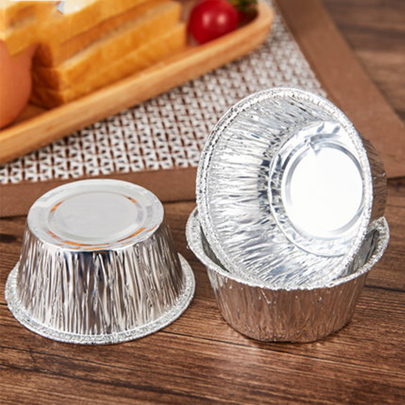 Hot Sales 250pcs Disposable Aluminum Foil DIY Baking Tools Cookie Muffin Cupcake Cheese Egg Tart Mold Round Cooking Pastry Tools