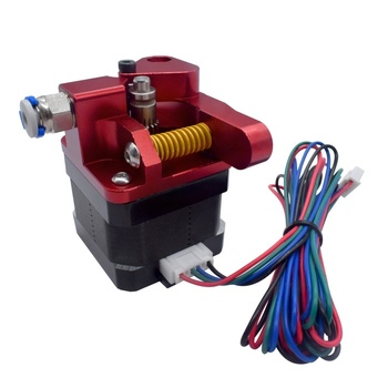 Aluminum Upgrade Dual Gear Mk8 Extruder for Extruder CR10 CR-10S PRO RepRap 1.75mm 3D Printer Feed Double Pulley Extruder