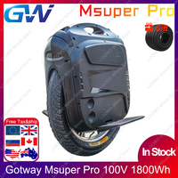 2020 Gotway Msuper Pro MSP 100V 1800wh 19inch Electric unicycle self balancing scooter 2500W motor 21700 battery Lift up switch