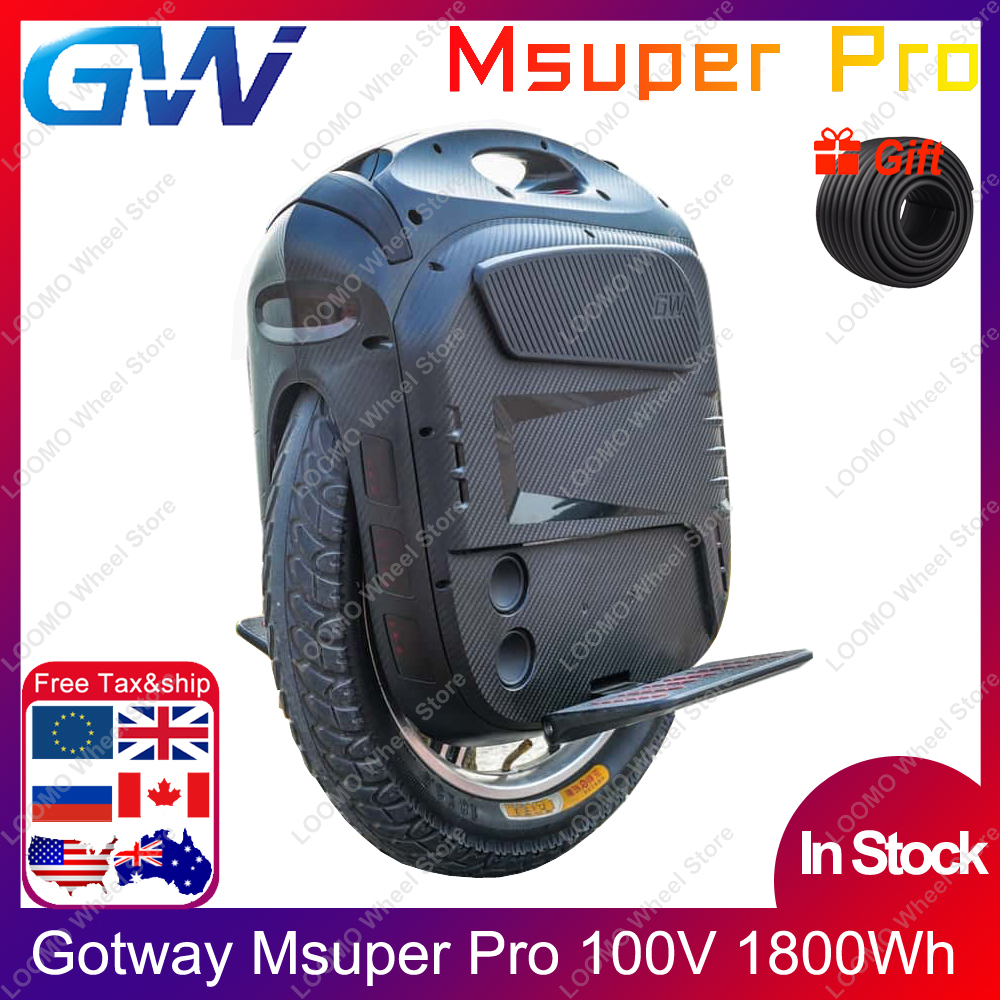 2020 Gotway Msuper Pro MSP 100V 1800wh 19inch Electric Unicycle Self-balancing Scooter 2500W Motor 21700 Battery Lift Up Switch