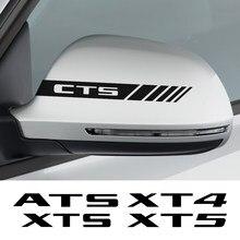 Autocollants de rétroviseur pour voiture, 2 pièces, Film en vinyle, accessoires de décoration pour voiture, pour Cadillac ATS CT6 cds 350T CSR2 XT4 XT5 XTS