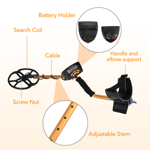 Image 4 - Detector de metais subterrâneo profissional portátil alta sensibilidade jóias ouro detector de tesouro metal localizador do parafuso prisioneiro