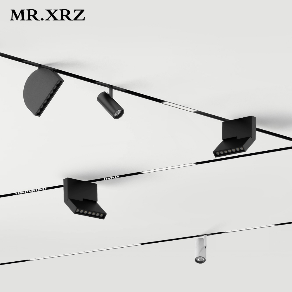 MR.XRZ LED Recessed Magnet Track Lights DC 24V 8W 10W 14W 28W Led Lamps Magnetic Rail Ceiling System For Indoor Track Lighting 1