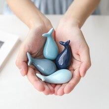 Soporte de cerámica de ballena de la suerte palillos chinos estilo chino hogar Hotel cerámica Linda vajilla de cocina