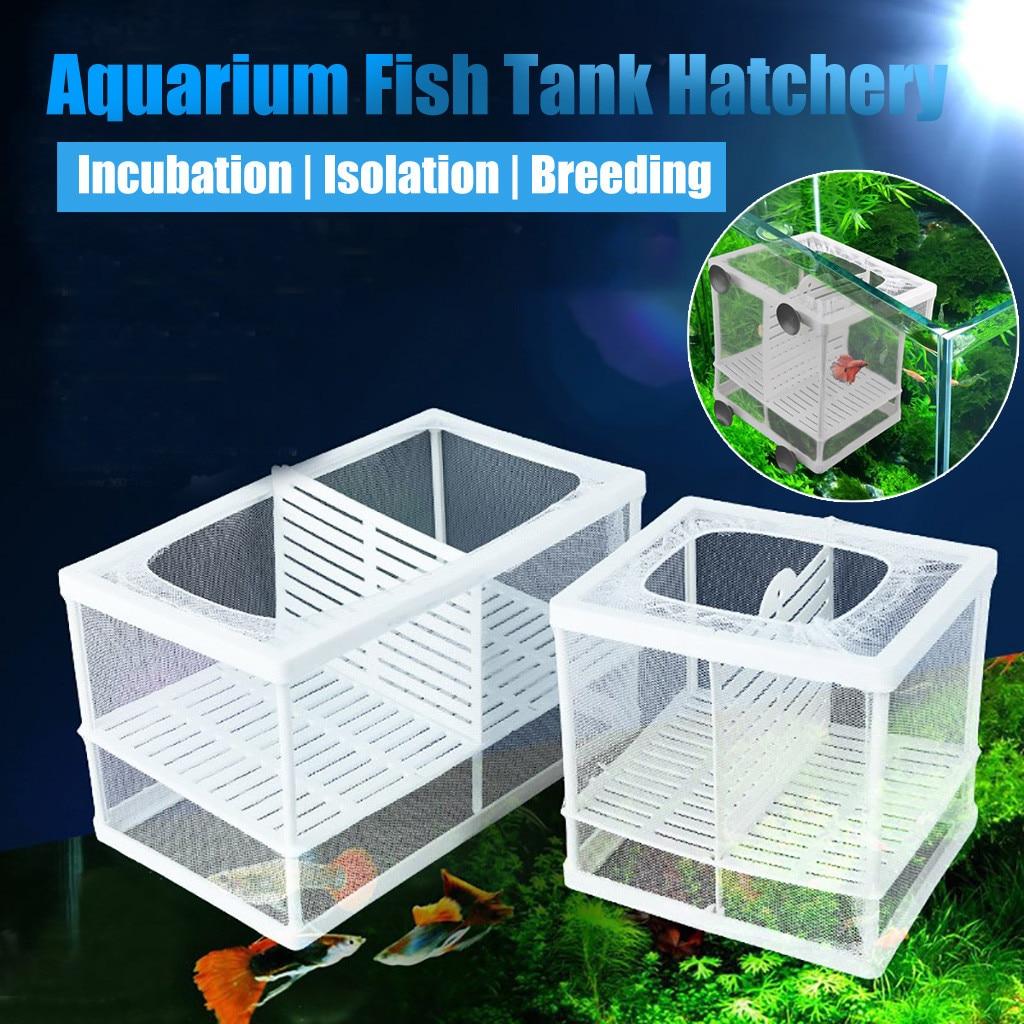 Aquarium Fish Breeding Breeder Box Baby Fish Hatchery Isolation Net Fish Tank Incubator Box Hanging Aquarium Accessory Supplies