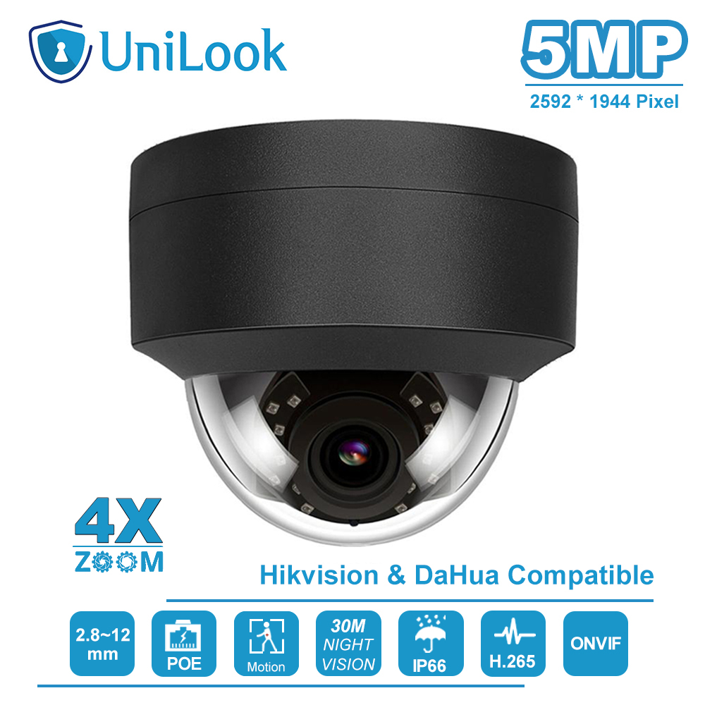 UniLook(Hikvision Compatible) 5MP 4X Zoom POE IP Camera Home/Outdoor Security H.265 CCTV Video Surveillance ONVIF IP66 image