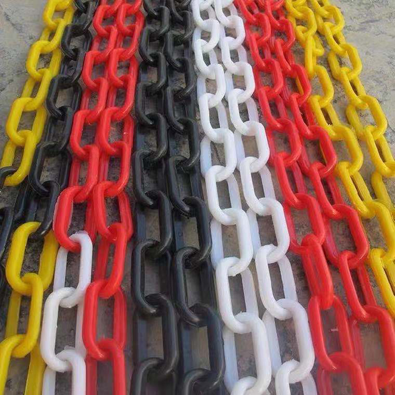 M25M Thickness 10MM Traffic Plastic Chain Warning Chain  Road Cone Chain Isolation Protection Chain Buckle Cordon