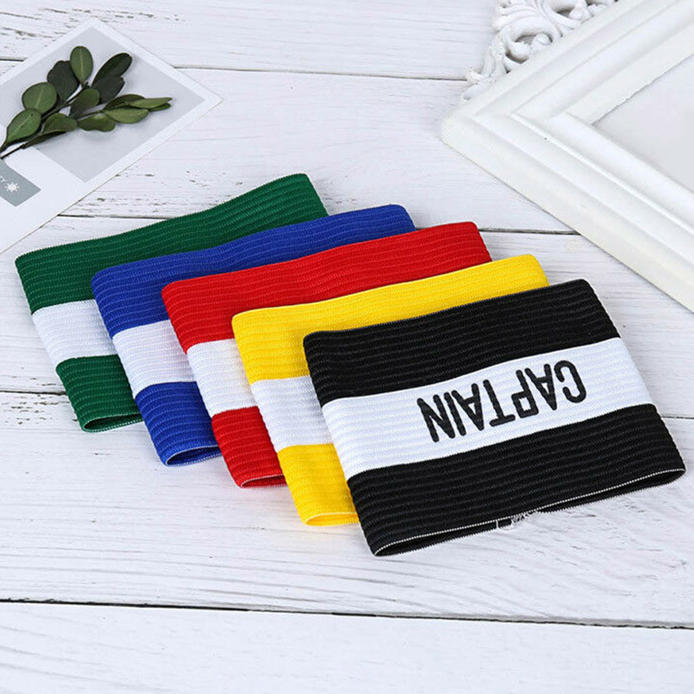 Symbol Competition Leader Conspicuous Captain Armband Football Rugby Hockey Sleeve Badge Playground Elastic Sports Accessories