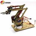 4 градуса в сборе акриловый манипулятор робот коготь Arduino создать обучающую игрушку для детского подарка