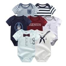 Vêtements dété unisexes en coton pour garçon et fille de 0 à 12 mois, 7 pièces/lot, vêtements dété pour bébé, collection 2019