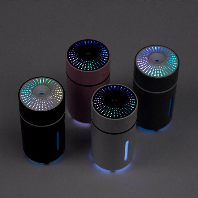 2020 vente chaude 230ML USB humidificateur dair avec lumière de chapiteau dans le purificateur dair sombre pour une utilisation de bureau