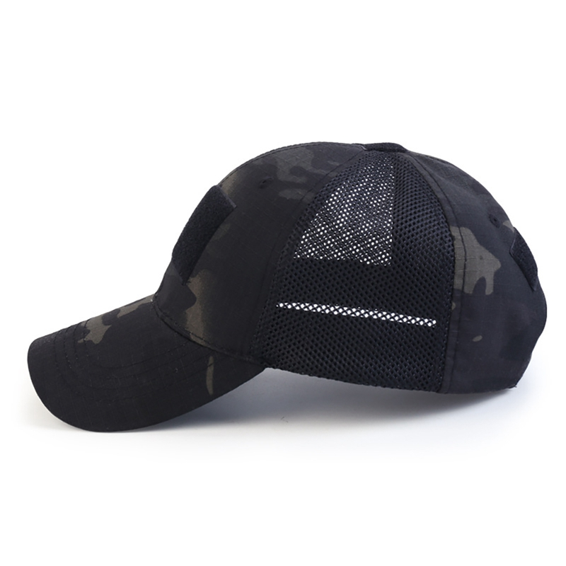 Tactical Military Cap Camouflage Hat Simplicity Army Camo Hunting Mesh Cap Army Hat Outdoor Sport Snapback Stripe