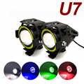 U7 светодиодный светильник для мотоцикла ангельские глазки головной светильник Точечный светильник s вспомогательный яркий противотуманны...