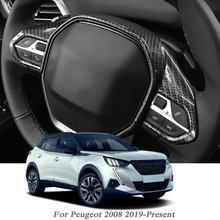 ABS Car Styling For Peugeot 2008 2019 Present Car Steering Wheel Sequins Internal Interior Frame Auto Accessory