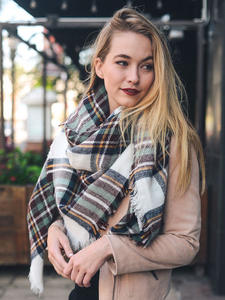 Cashmere Scarves Shawls Blanket Wraps Female Designer Winter Women Luxury Brand Lady