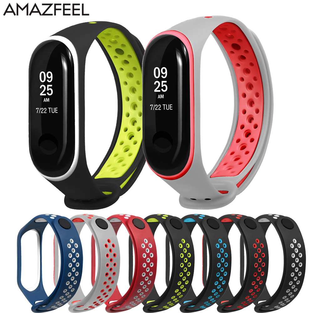 10Pcs/Pack Soft Bracelet For Mi Band 4 Wrist Strap Sport Silicone Wristband For Mi Band 4/ 3 Miband 4 Rubber Belt Accessories