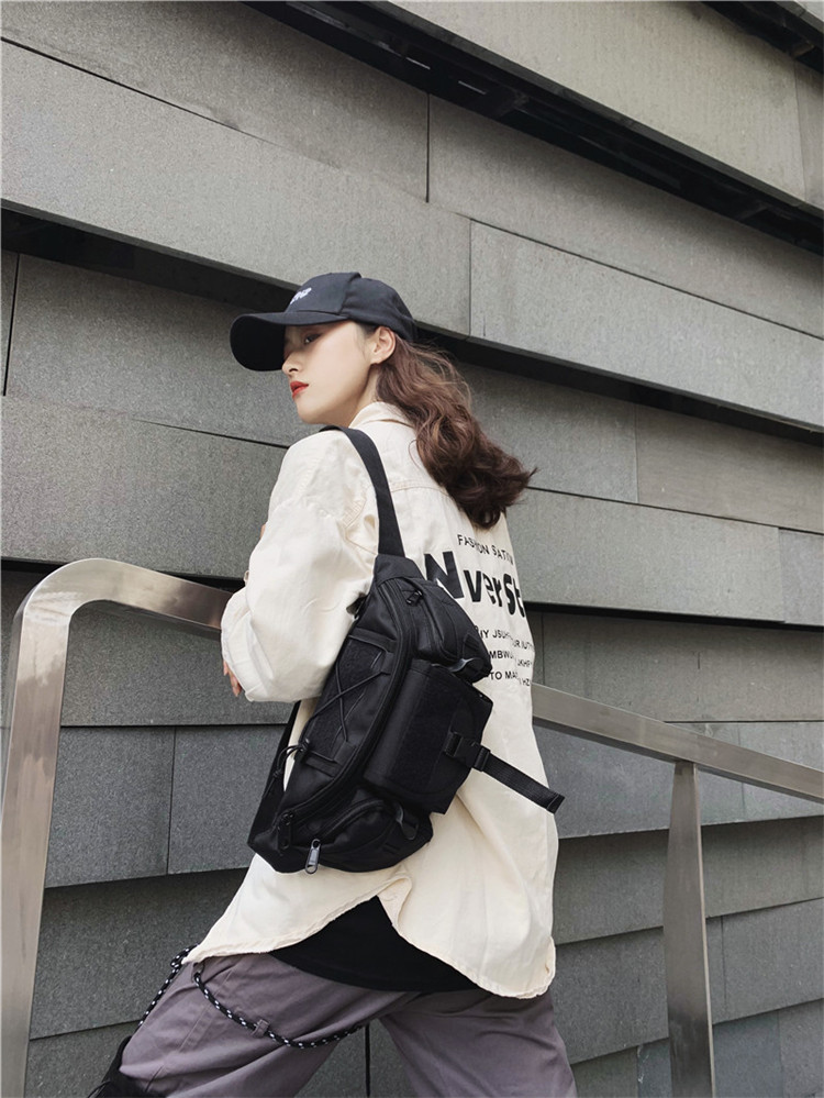 Moda preto saco da cintura tendência rua