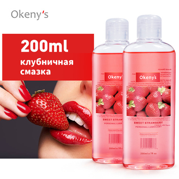 Okeny's Lubricant for Sex 200ML Anal Lubrication Adult Sex Strawberry Gay Massage Oil Lubricant for Anal Oral Vagina Massage Gel