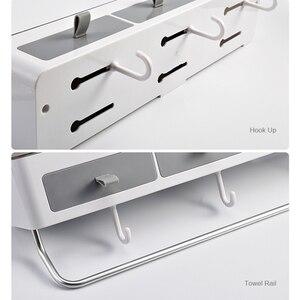 Image 5 - Без перфорации, органайзер для ванной комнаты, стеллаж для шампуня, аксессуары для ванной комнаты