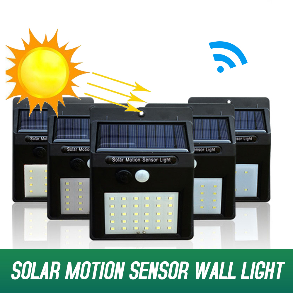 Solar Lamp LED Outdoor Solar Wall Lamp Waterproof PIR Motion Sensor Wall Light Solar Powered Sunlight Garden Street Yard